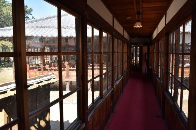 沼津御用邸記念公園の赤絨毯