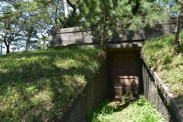 沼津御用邸の防空壕