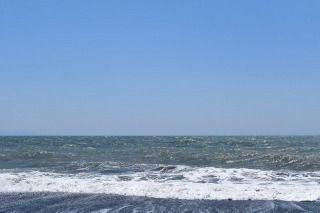 D5500で撮影した海-露出補正なし