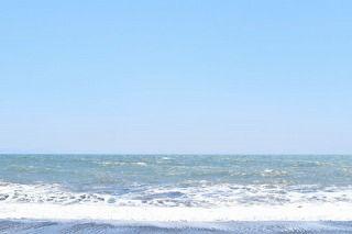 D5500で撮影した海-露出補正+1