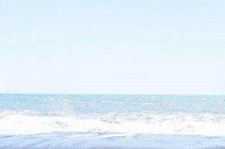 D5500で撮影した海-露出補正+2