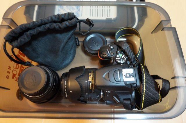 一眼レフカメラを保存する防湿のドライボックス