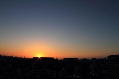 Snapseedで加工する夕日