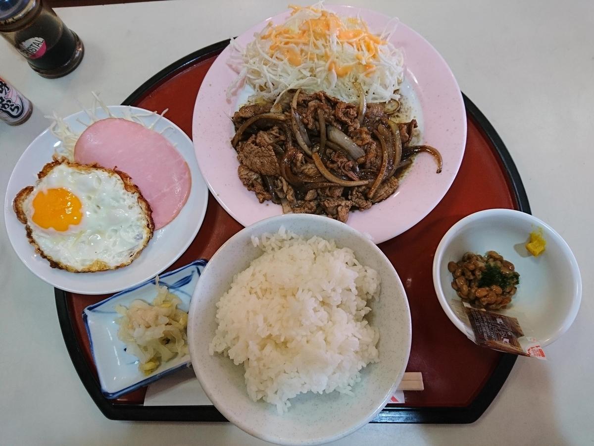 レストランすえひろの豚肉しょうが焼き定食