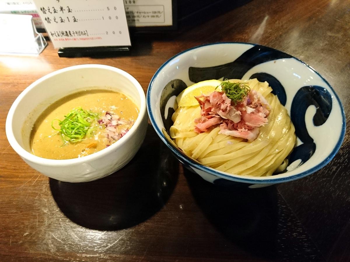 志奈田の純濃煮干つけ麺