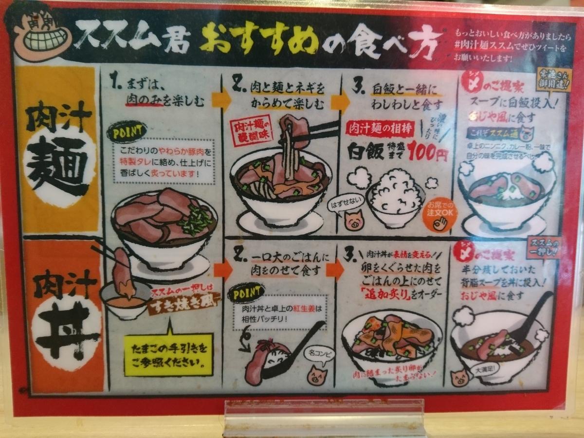 肉汁麺ススムのおすすめ食べ方
