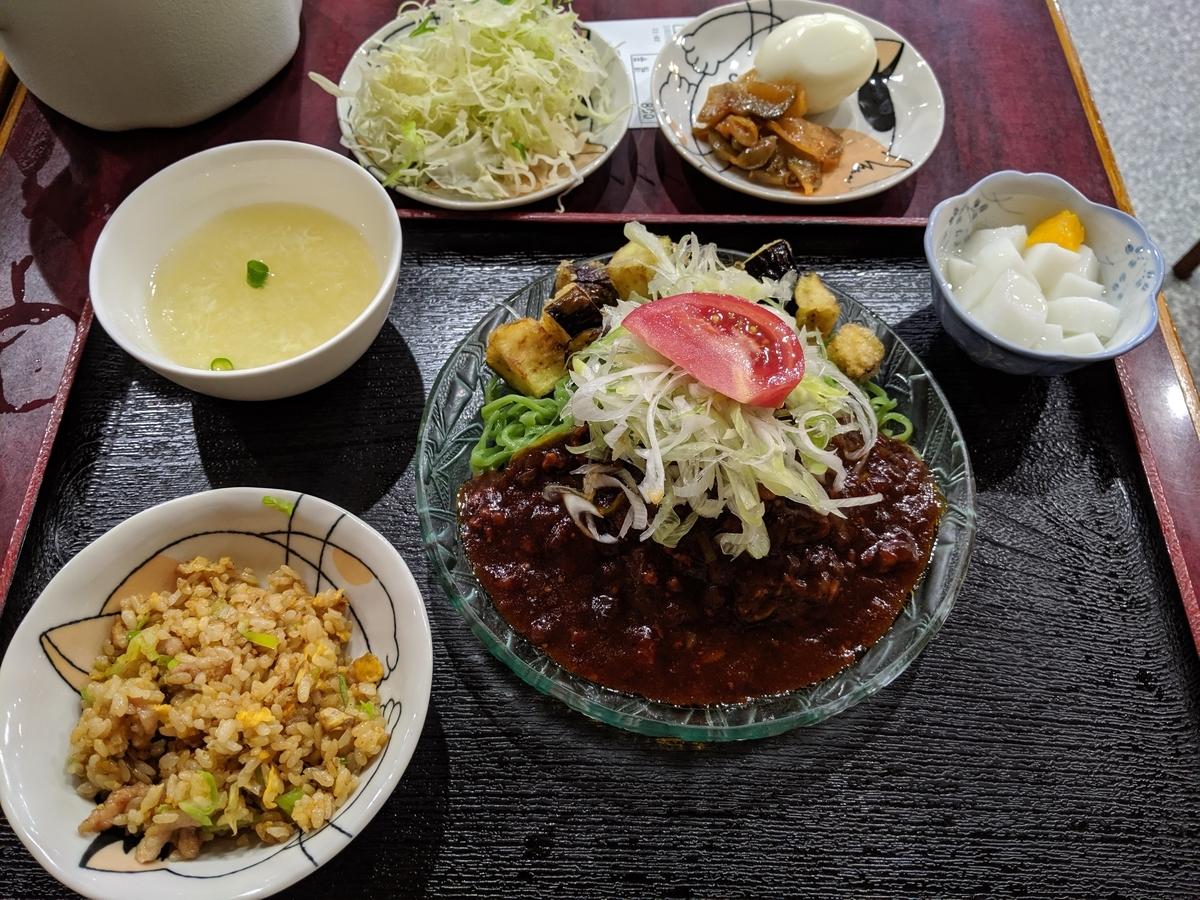 北京飯店のジャージャー冷麺とミニチャーハン