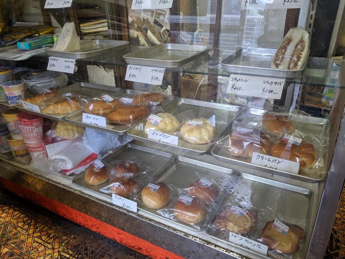 北海ベーカリーのパン売り場