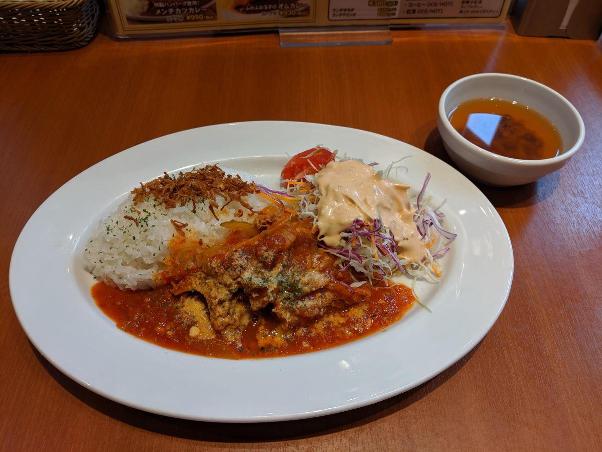 須田町食堂の週替わりランチ(牛ハチノスのトマト煮込み)