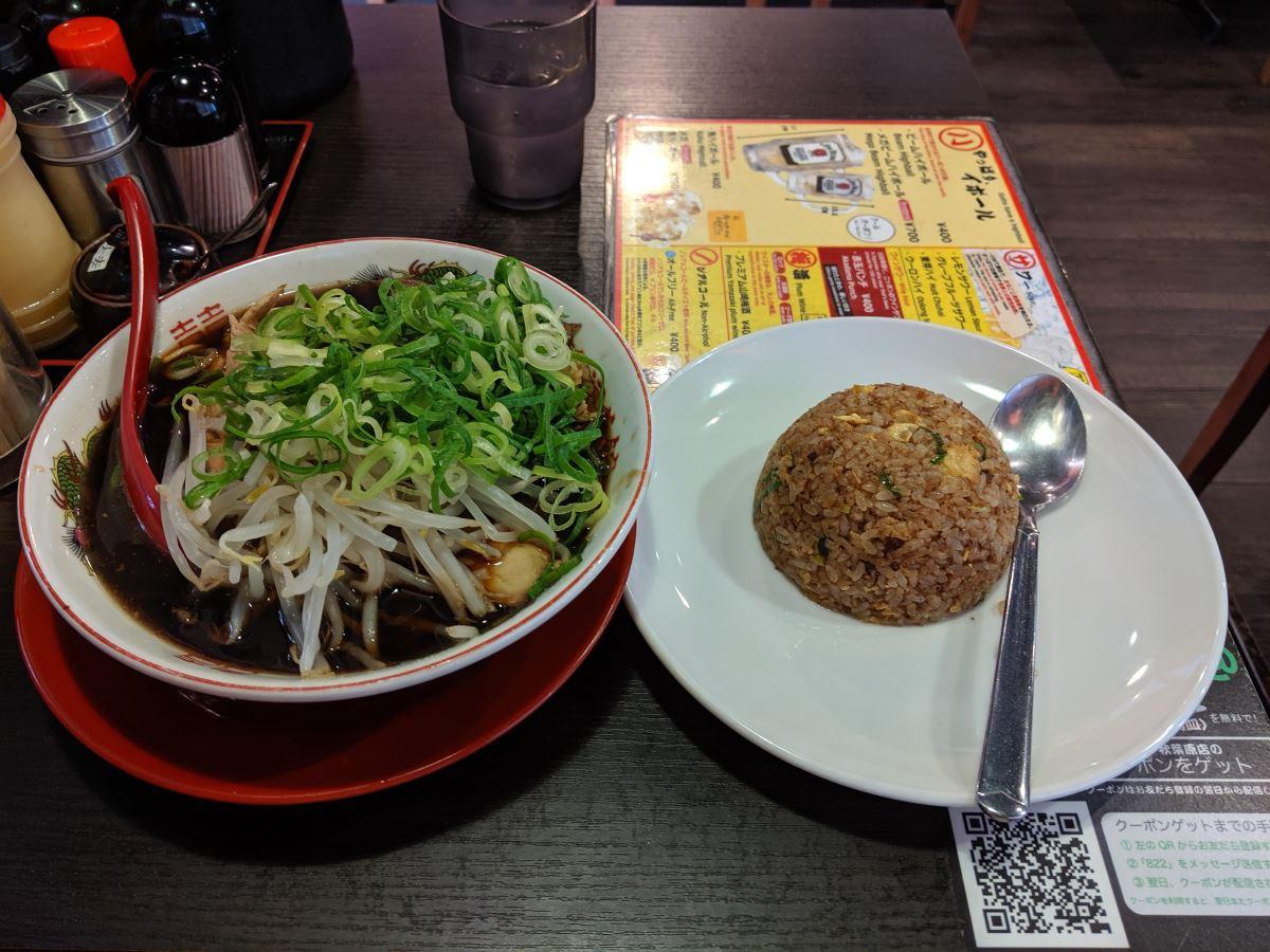 新福菜館の中華そば(並)+焼飯(小)