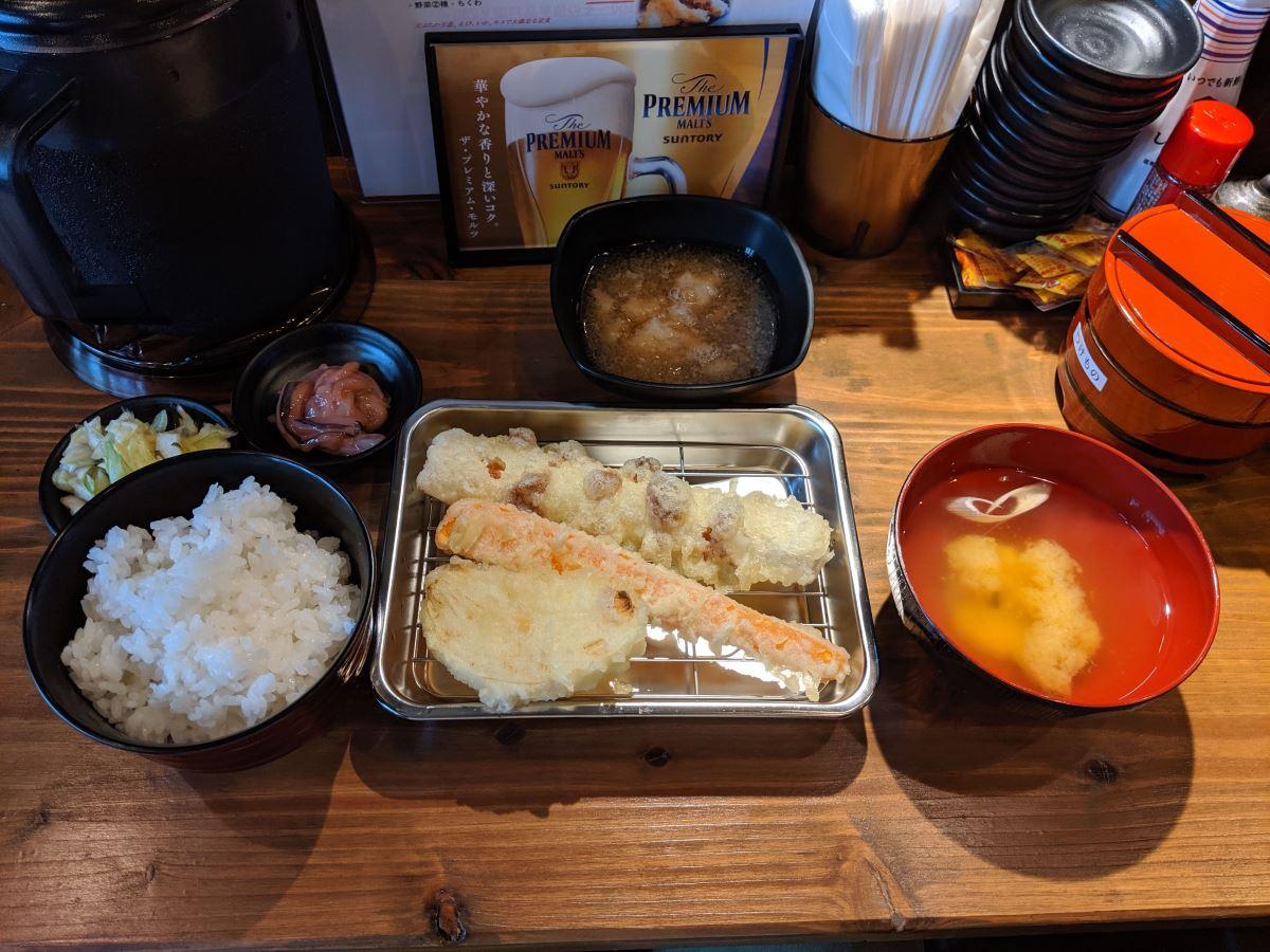 「天ぷら さいとう」のさいとう定食