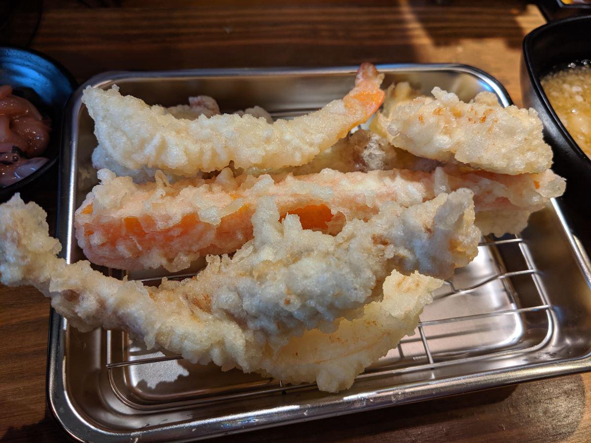 「天ぷら さいとう」のさいとう定食天ぷら