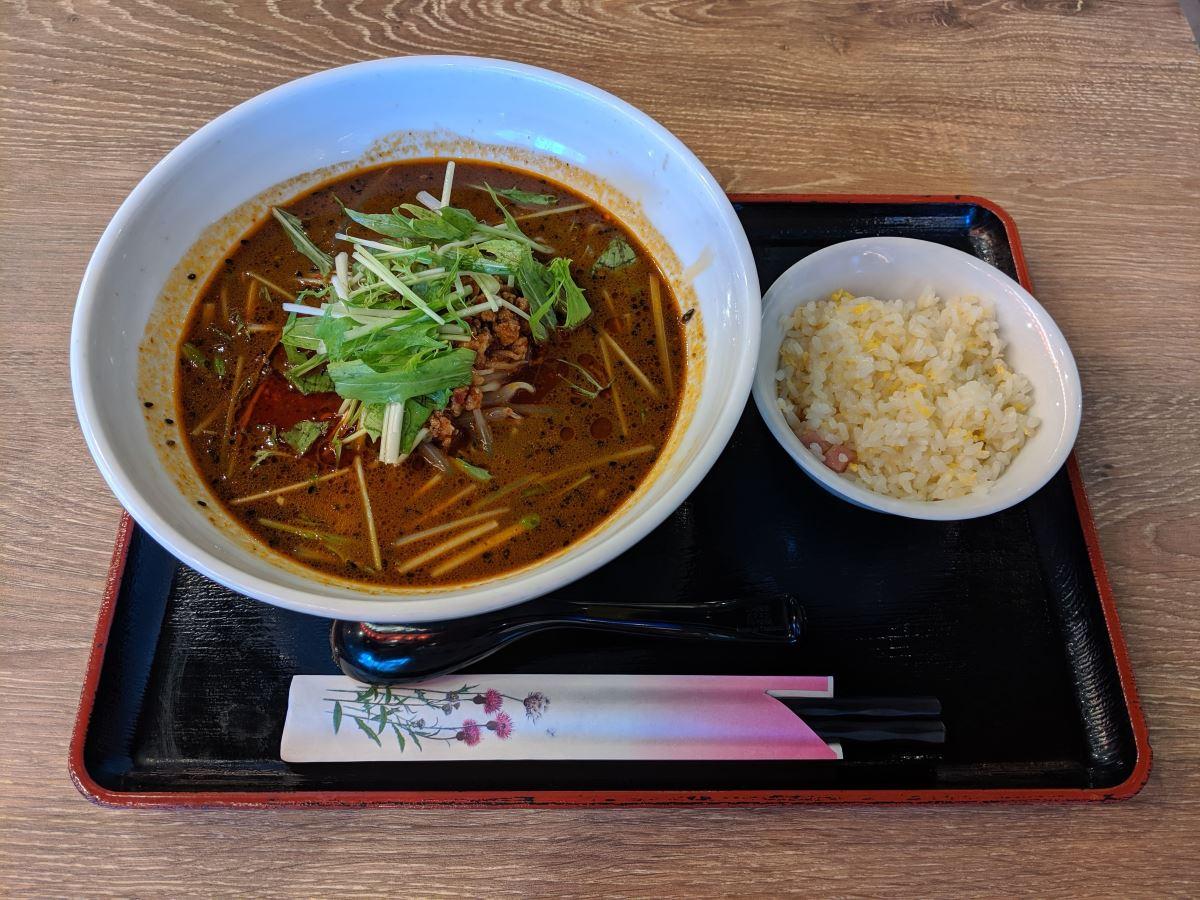 「四川麺匠 炎」の四川黒ゴマ担々麺