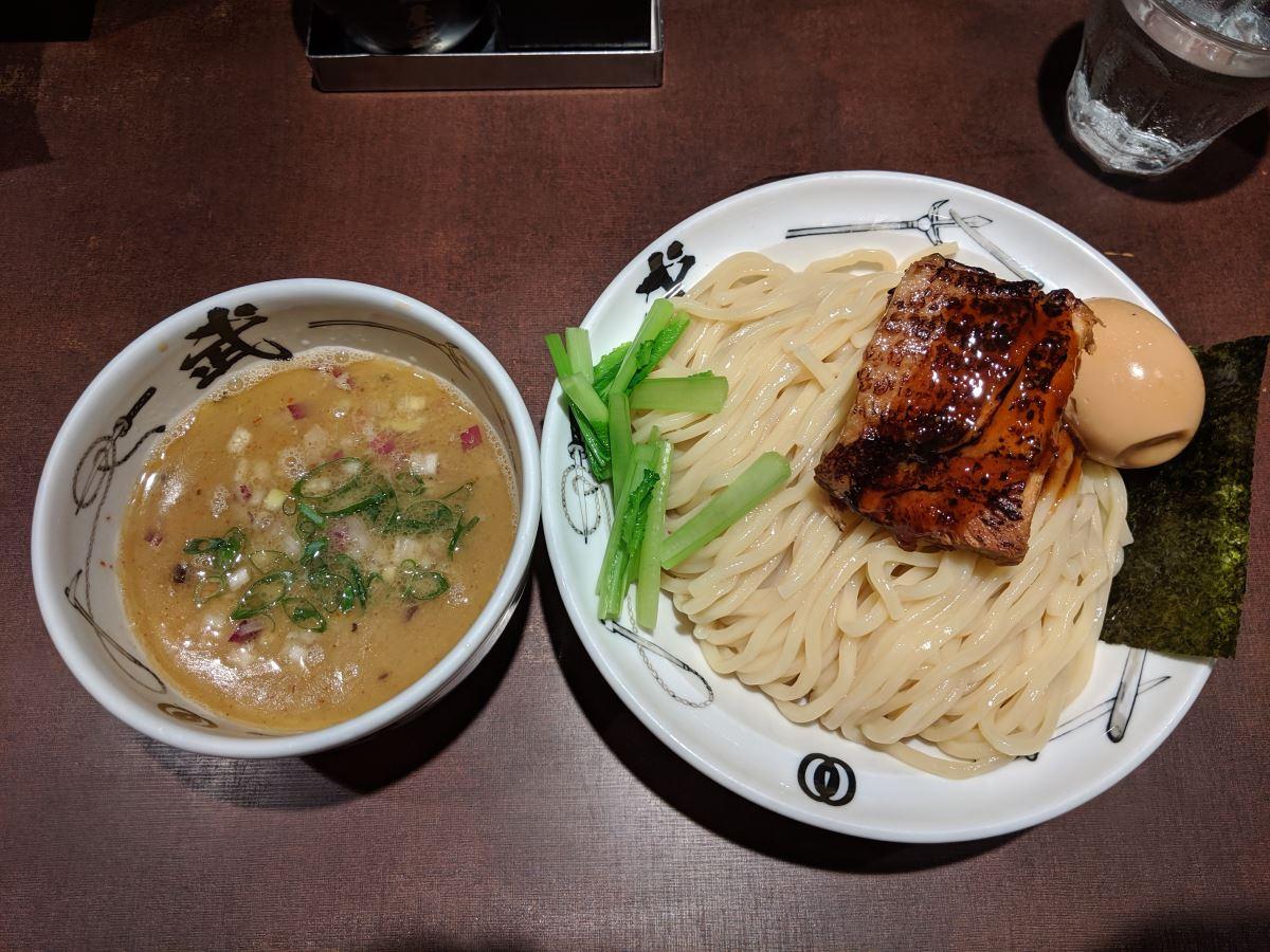 「麺屋武蔵 武仁」の武仁つけ麺(麺大盛)