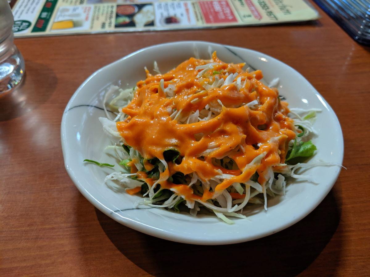 「アイキッチン」のサラダ