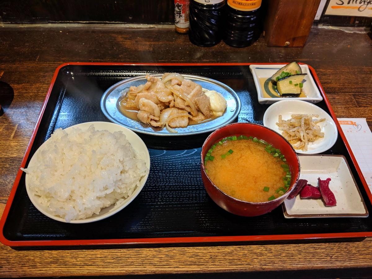 「殿(しんがり)」の豚生姜焼き定食
