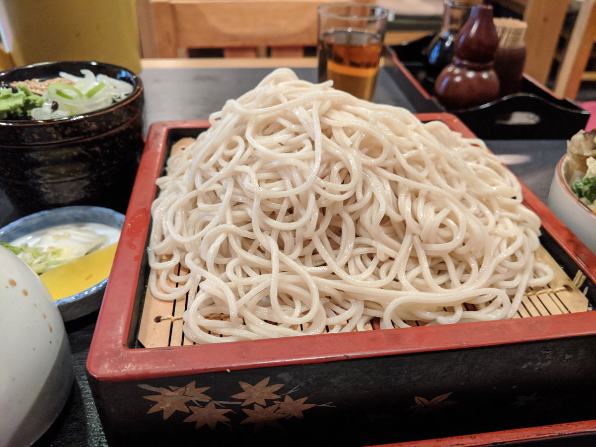 「松月庵」のそば定食