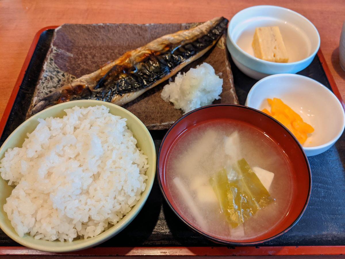 「一心」の焼魚定食