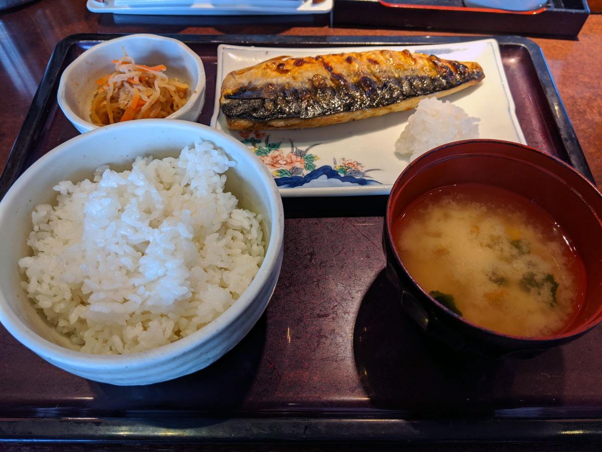 「やまや」の焼き魚定食