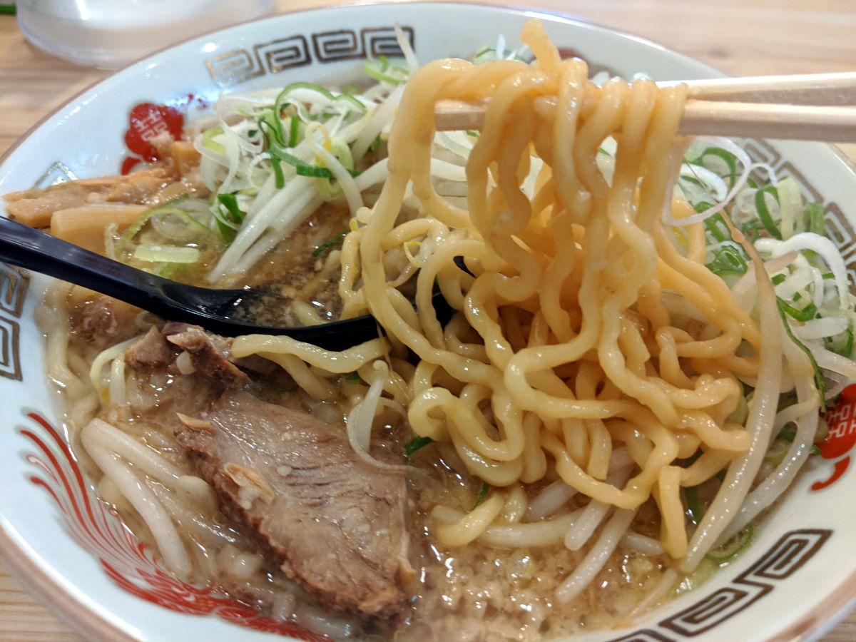 「背あぶらの里 風魔」の麺