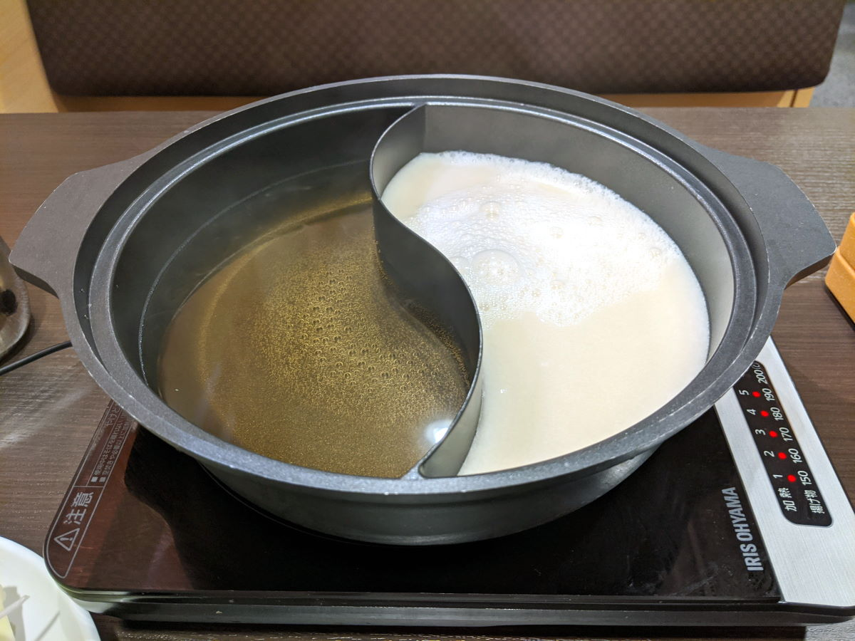 「しゃぶ葉」の鍋