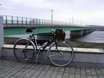 秋田市内・雄物川にかかる新秋田大橋