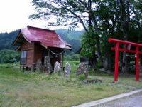 潟集落にあった神社