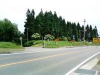 「新道」で国道と分かれる