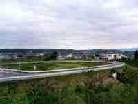 16:13 刈和野バイパスから西仙北町内を遠望