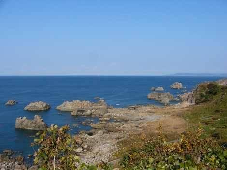 JR五能線の沿線で見られる風景