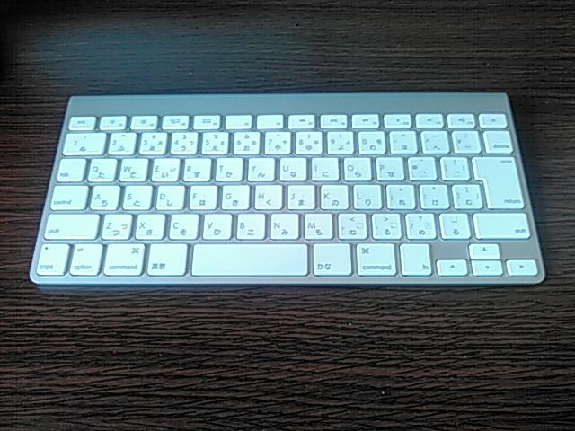 真上から見たMacのワイヤレスキーボードの画像