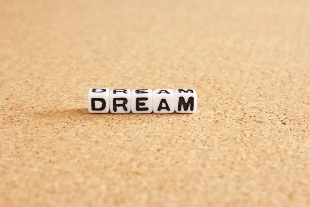 信念や夢を示す文字の画像