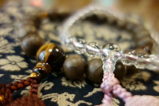法要に使用された数珠