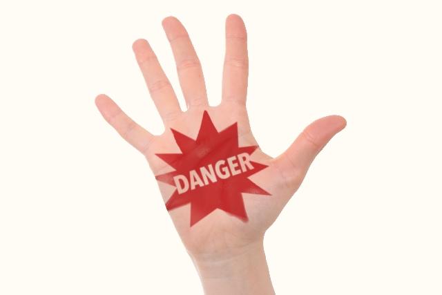 ナイフかもしれないので危険を示す画像
