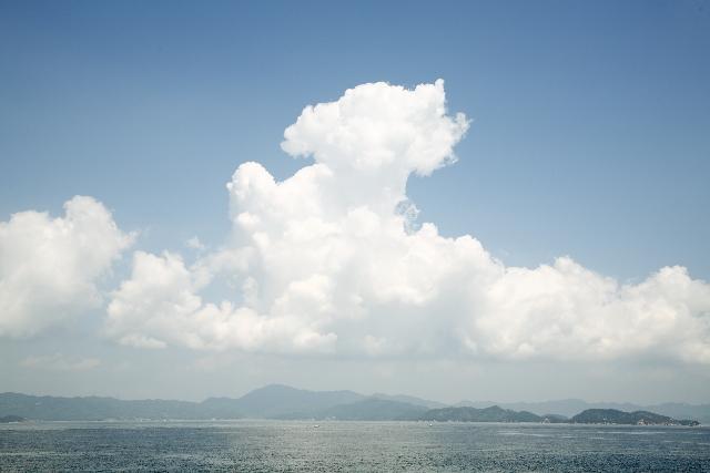 広島県から見える瀬戸内海
