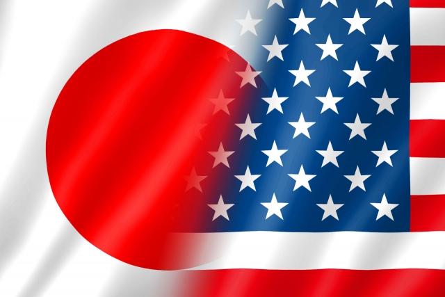 日米の国旗画像