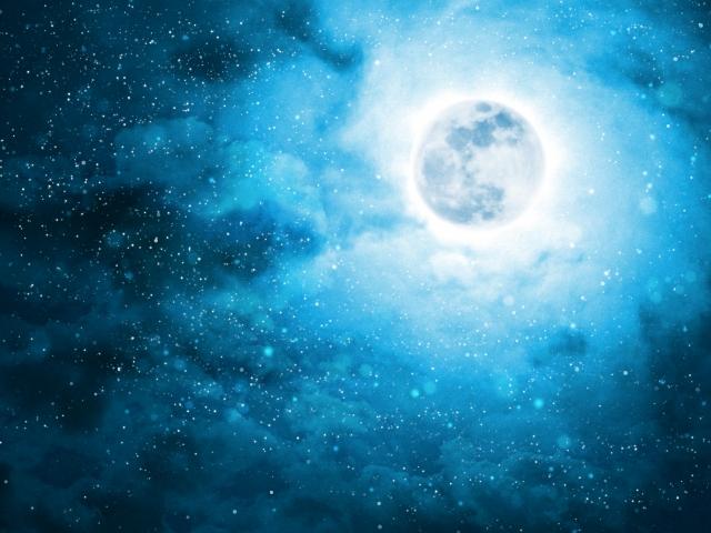 LUNA SEAの歌に出てくるような青い月