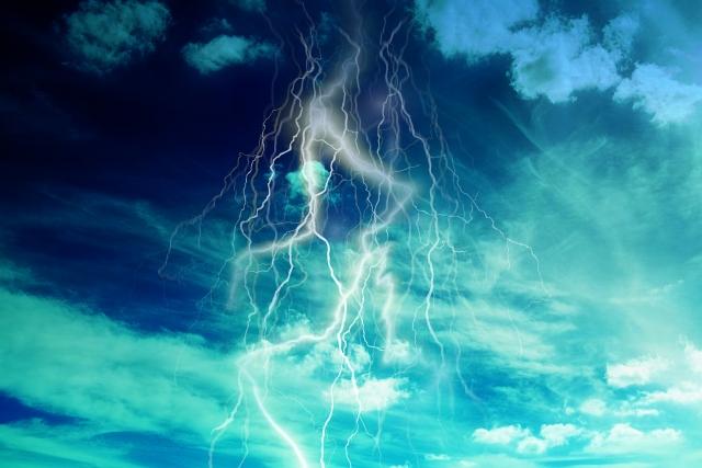 落雷で止まる老化現象