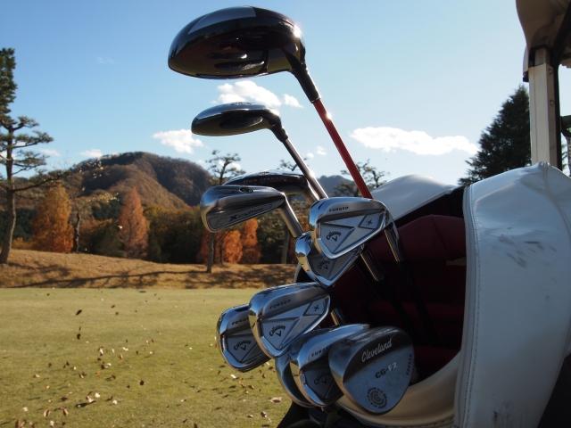 ゴルフバッグを発見