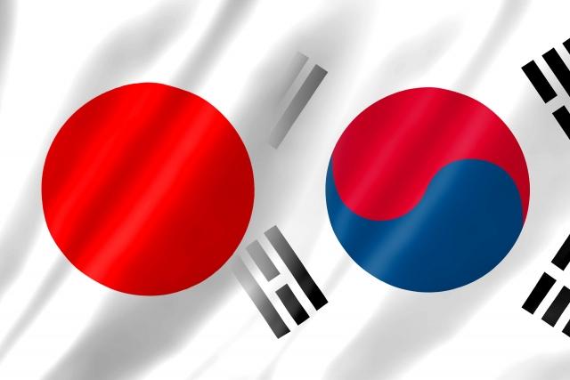 日韓の国旗