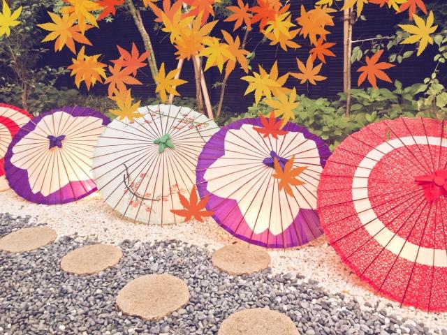 江戸を感じさせる和傘