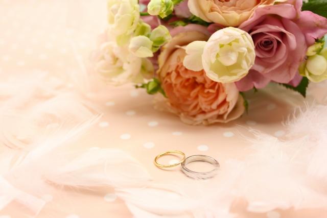 指輪を使ってプロポーズ
