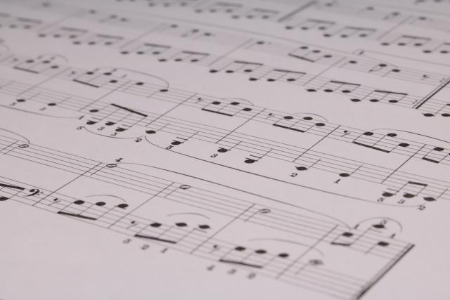 コンクールで使用する楽譜