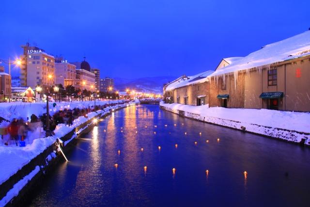 小樽の冬景色