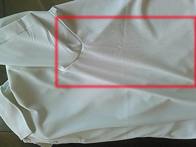 ドライEXポロシャツ 半袖の脇の下部分