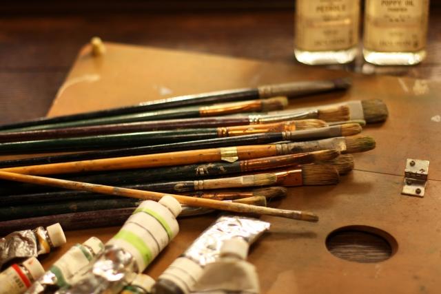 名画を描くための油絵道具