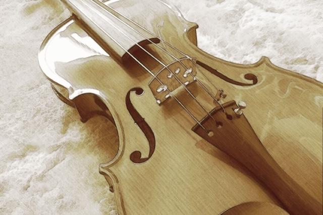 コンクールで使用するバイオリン