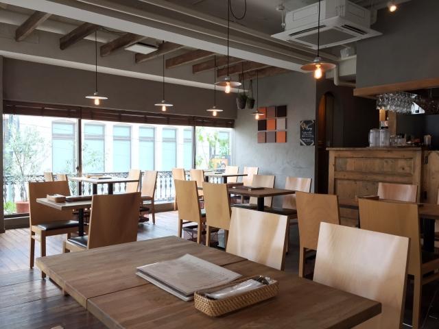 カフェの店内の画像