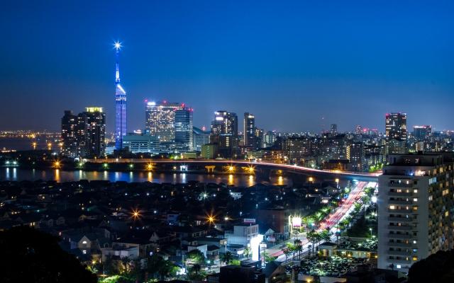 福岡市の夜景画像