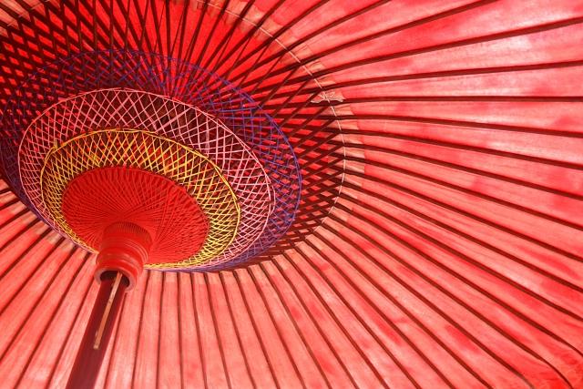 京都にある和傘